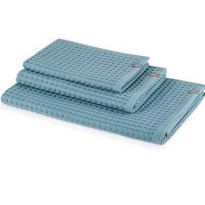 zestaw niebieskich ręczników