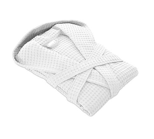 biały, złożony szlafrok