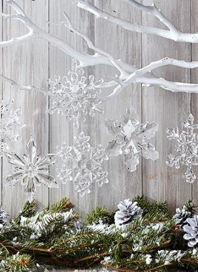 ozdobne płatki śniegu