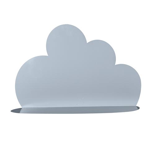 niebieska dekoracyjna półka w kształcie chmury