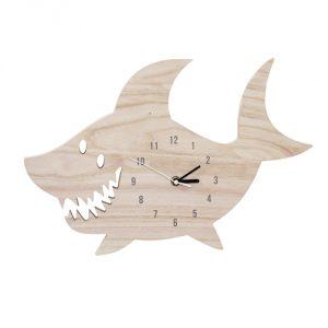 zegar w kształcie rekina Bloomingville