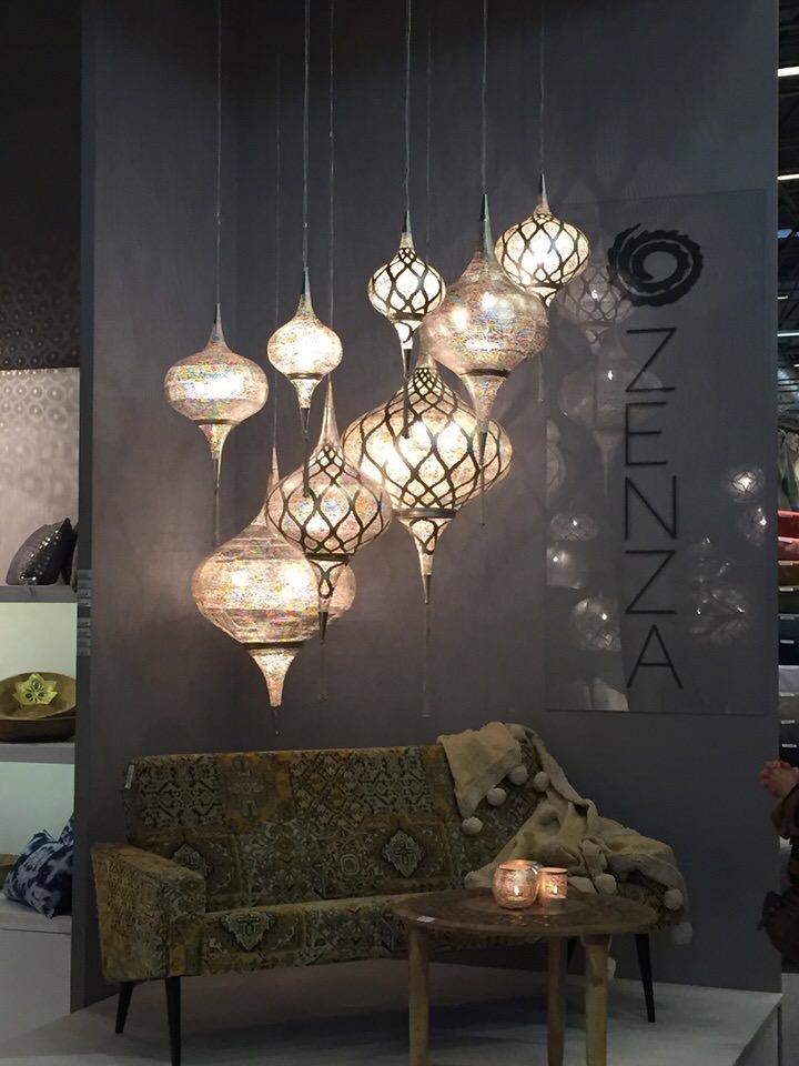 aranżacja ręcznie wykonanych lamp ZezaHome