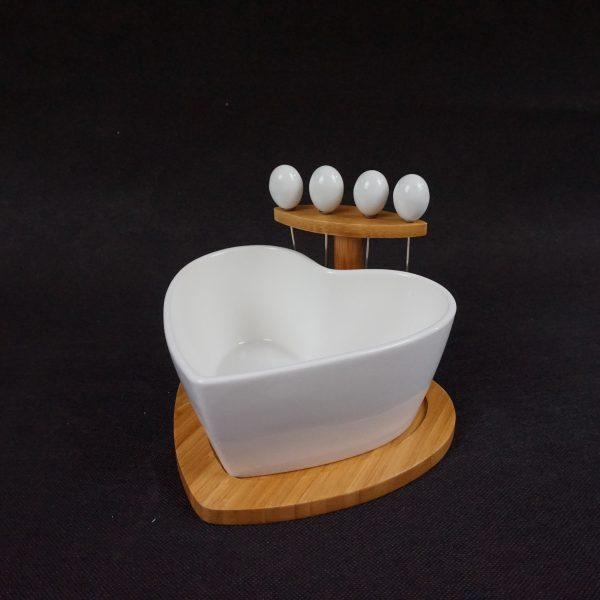 miska na przekąski w kształcie serca