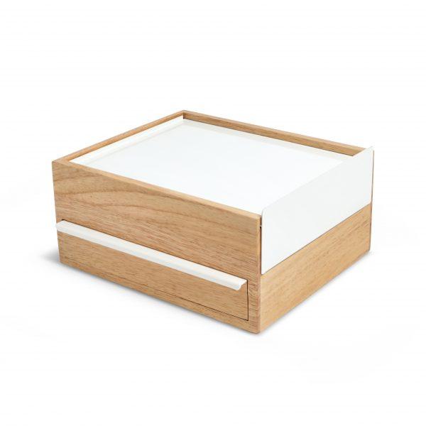 drewniany organizer STOWIT Umbra naturalne drewno, biel