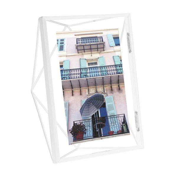 biała ramka na zdjęcia 5x7 13x18 seria PRISMA Umbra