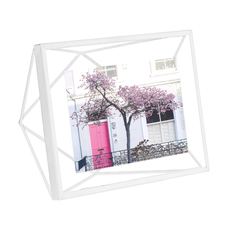 Mała biała ramka na zdjęcia 4x6 10x 15 PRISMA Umbra
