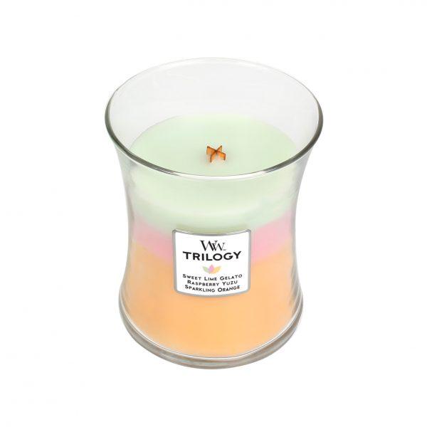TeGusta Woodwick Trilogy luksusowa świeca zapachowa