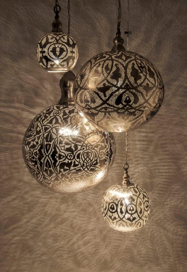 Lampy Ball Filligrain Zenza Home w aranzacji mala srednia duza i bardzo duza