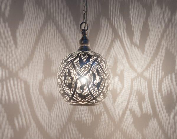 Ball Filigrain Small Silver Zenza Home lampa wisząca mała