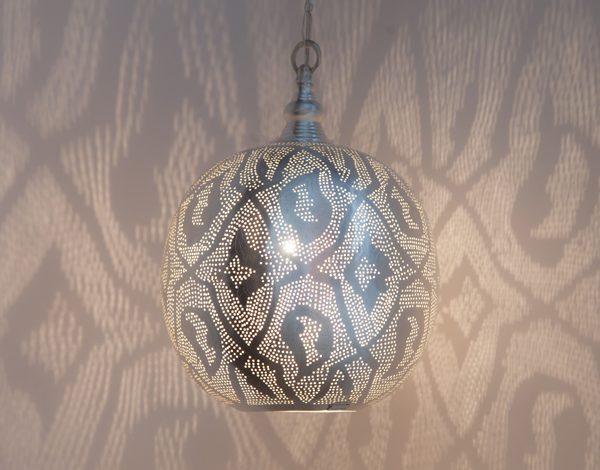 Ball Filigrain Medium Silver Zenza Home lampa wisząca średnia