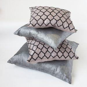 poduszki ozdobne Lniane Femke Oblong Taupe
