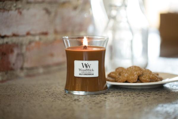 świateczny zapach jolly gingerbread WoodWick