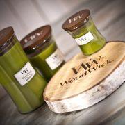 wyjątkowa świeca zapachowa z drewnianym knotem