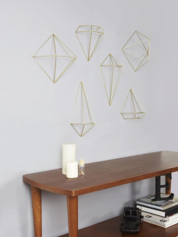 dekoracja ścienna prisma
