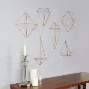 dekoracja ścienna diamenty