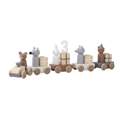 dekoracja urodzinowa pociąg na świecki