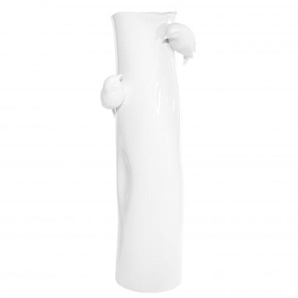 wazon wysoki ptaki porcelanowy