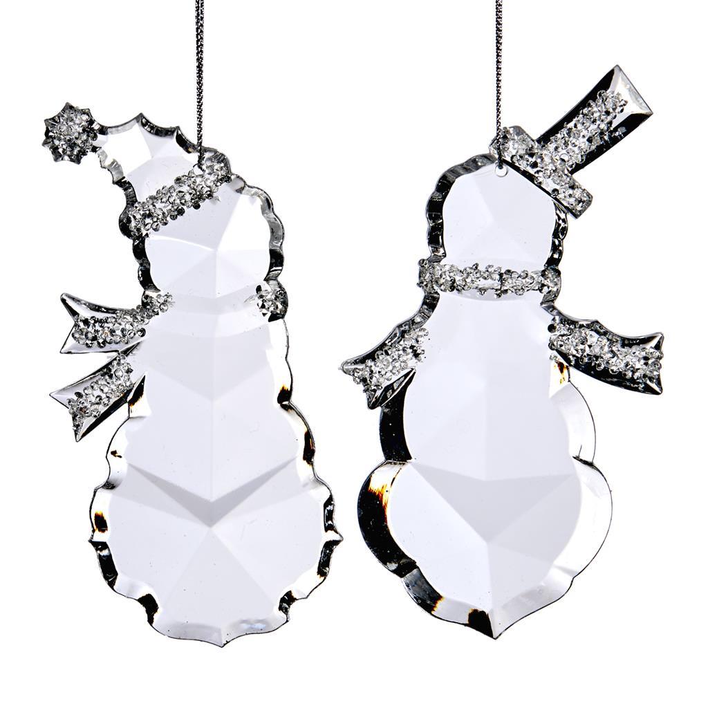 bałwanki świąteczne dekoracyjne ozdoby na choinkę akryl