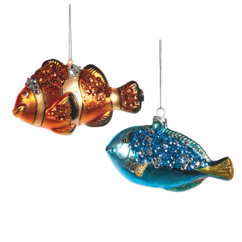 zestaw rybek akwariowych bombek szklanych