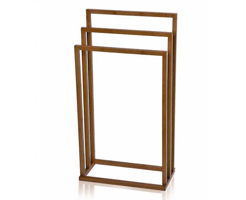 drewniany wieszaqk na reczniki lazienka stojak bambus