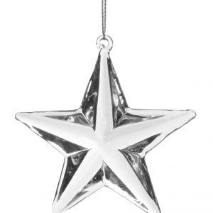 wyjątkowa szklana dekoracyjna gwiazda choinkowa bombka świąteczna