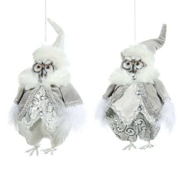 ekskluzywne sowy dekoracja Bożonarodzeniowa