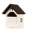 domek dla ptaków biały drewniany