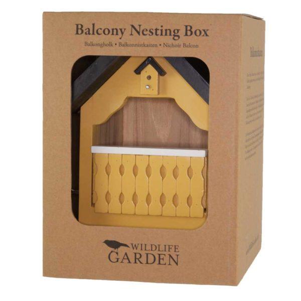 drewniany domek dla ptaków żółty wildlife garden