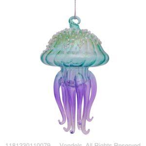 Bombka choinkowa szklana meduza