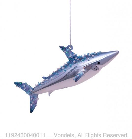 Bombka choinkowa szklana rekin