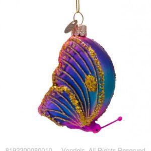 Bombka choinkowa szklany kolorowy motyl