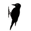 metalowa sylwetka ptaka do ogrodu