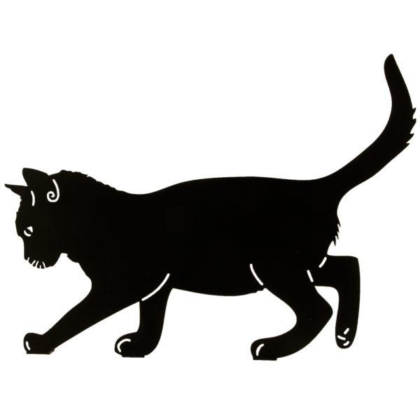 balansujący kot figurka metalowa